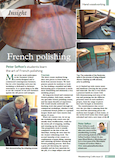 Peter Sefton French Polishing Course Article Woodworking Crafts Magazine May 2016