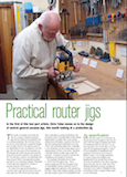 May 2015 Chris Yates Furniture & Cabinetmaking Magazine Article  Router Jigs Part 1